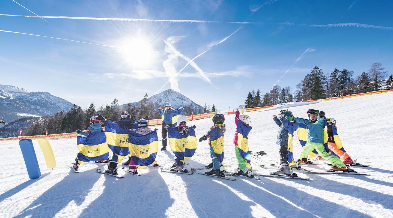 Kids on the ski slopes @Achensee Tourismus